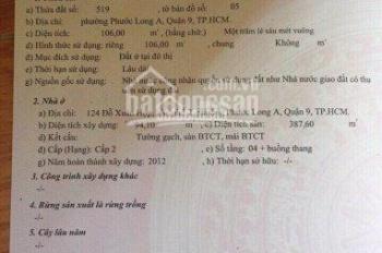 Nhà mặt tiền đường Đỗ Xuân Hợp, 4 lầu, giá 16 tỷ, diện tích 140m2, hiện đang cho thuê 40tr/tháng