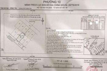 Cần bán lô đất hẻm 167 Lưu Chí Hiếu, P10, TP. Vũng Tàu. DT: 0937101279