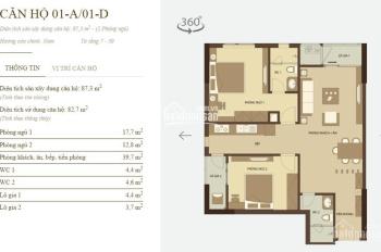 Căn hộ Mandarin Tân Mai căn góc diện tích 87,3m2, giá 2,6 tỷ