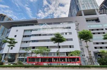 Cho thuê mặt bằng tầng 1 tòa nhà Toyota Mỹ Đình, 250m2, mặt tiền 34m, làm ngân hàng, cafe