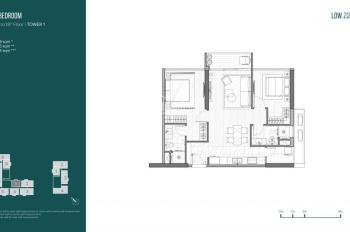Bán lỗ căn hộ 2 phòng ngủ Linden 93m2 tầng 16. Giá 8.8 tỷ, thanh toán 40%, 0938 506 906 anh Chris