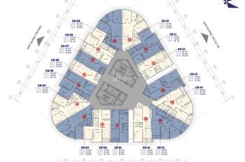 Bán lỗ 2PN, căn 1812 DT 65m2 tòa B CC Vinaconex 2, giá 24.5tr/m2, chính chủ 096I. 958.301