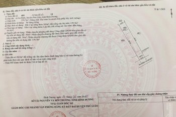 Chính chủ bán lô đất ở Phú Giáo 240m2 thổ cư 100m giá 500 triệu. Sổ riêng