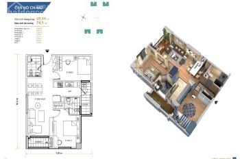 Chính chủ bán căn hộ 0816 CC Homeland Long Biên, DT 70m2,2PN, 2WC giá bán: 24tr/m2 LH: 098 798 8607