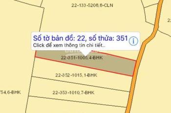 Bán đất sào Hưng Thịnh, 1000m2, sổ riêng, đường ô tô, cách QL1A vô 1,5km, LH 0938.018.295 vân