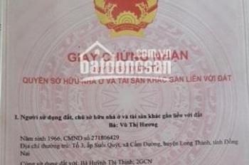 Chính chủ cần bán hơn 300m2 đất Cẩm Đường, khu vực Sân Bay Quốc Tế Long Thành, liên hệ 094 123 5679