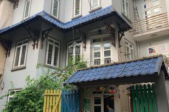 Cho thuê nhà mặt ngõ 61 Lạc Trung, 80m2 x 4 tầng, MT 7m, ngõ rộng 2 ô tô, có điều hòa các tầng