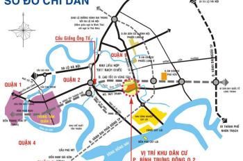 Cần bán lô góc mặt sông 404m2 dự án Đông Thủ Thiêm, 0902454669