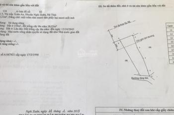 Cần bán đất tại mặt đường Nguyễn Nghiễm, K5, TT Xuân An