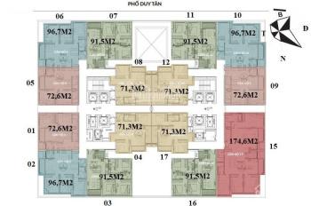 Bán lỗ 200tr, CC Dream Land Bonanza 23 Duy Tân, 1610: 96,7m2 & 1909: 72,6m2, 35tr/m2. 0355838882