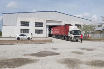 Cho thuê kho diện tích 1786m2 xe container đi thoải mái, có điện 3 pha, vào sử dụng ngay