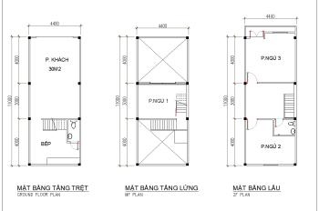 Cho thuê nhà nguyên căn gồm 1 trệt + 1 lửng + 1 lầu + sân riêng