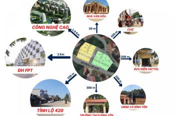 Chính chủ bán đất ngay chợ Sen Trì - Bình Yên full thổ cư, đường rộng 7m, sẵn sổ đỏ, 0965357097