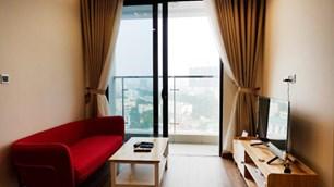 Bán căn hộ 2 ngủ full nội thất, đã có sổ đỏ tại Nguyễn Huy Tưởng giá 1.87 tỷ có gia lộc