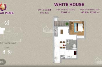 Chính chủ ra nhanh căn 1PN 53m2 thiết kế đẹp vuông vức Sunwah Pearl. Giá rẻ: 3tỷ980/tầng cao