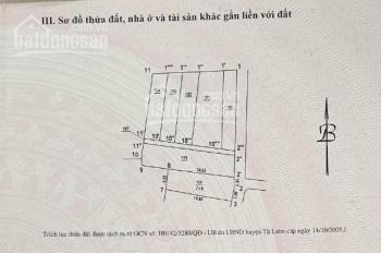 Bìa đỏ chính chủ đất hơn 70m2 xã Liên Mạc, Từ Liêm, Hà Nội