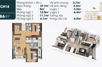 Suất giá rẻ căn 2PN + 1 dự án TSG Lotus Long Biên - 86m2 full nội thất giá 2,15 tỷ (Có VAT) - hot