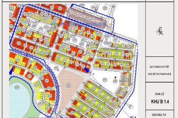 Cần bán đất liền kề Thanh Hà giá cắt lô, LH: 0985958118