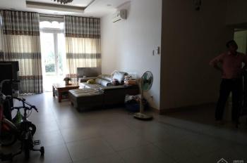 Cho thuê căn hộ chung cư Giai Việt - tầng trệt, DT 150m2, 3PN, có nội thất đầy đủ, tiện ở, giá 23tr