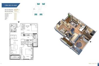 Cho thuê chung cư Hà Nội Homeland Long Biên căn 2 phòng ngủ 69m2 giá 5,5 tr/tháng, 098.660.3136