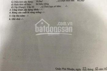 Cần tiền bán gấp lô đất 36m2 hẻm 780 Nguyễn Kiệm, P4, Phú Nhuận. Giá chỉ 2.1 tỷ. Sổ riêng sang tên