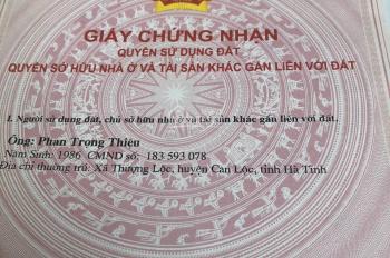 Chính chủ kẹt tiền cần bán gấp lô đất mặt tiền quốc lộ 15A ngay thị trấn Đồng Lộc