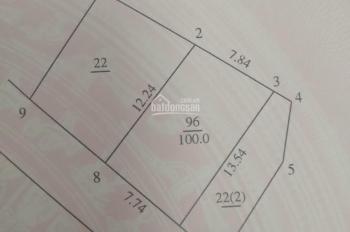 Cần bán mảnh đất mặt ngõ chợ 14 Mễ Trì Hạ, 100m2, giá bán 120tr/m2, mặt tiền 7,8m, hậu 8m