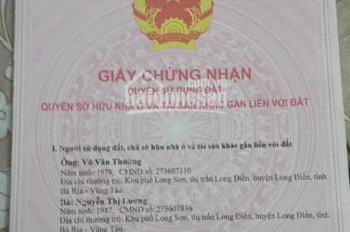 Bán đất sổ đỏ tại xã An Ngãi, Long Điền, Bà Rịa Vũng Tàu