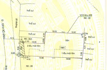 Cho thuê nhà và đất mặt tiền Đinh Bộ Lĩnh diện tích 12 x 43m khoảng 600m2 đất