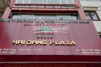 Cho thuê mặt phố Trần Thái Tông, Cầu Giấy, HN. DT 90m2 * 5 tầng, 1 tum, MT 6,2m, giá: 105 tr/th