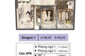 Căn hộ Dragon 2PN 2WC 78m2, tầng 10 cần sang lại cho người thiện chí. Hỗ trợ nhanh về thủ tục!