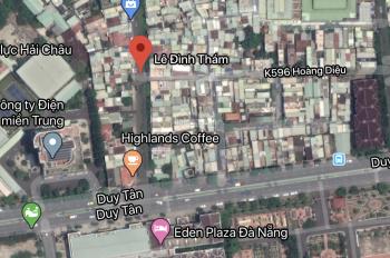 Chính chủ bán cặp đất mặt tiền Lê Đình Thám trung tâm Đà Nẵng, 8,6mx15,09m, đất rất đẹp, vuông vức