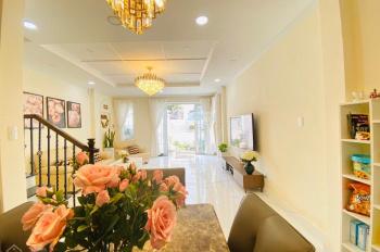 Cho thuê nhà mặt tiền đường Nhiêu Tâm có 1 trệt 1 lửng 2 lầu DT: 4x20m, giá thuê 56 tr/th, P5, Q5