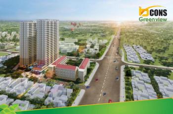 Căn 44m2 2PN - 1WC Bcons Green View giá 1.352 tỷ (VAT) view Landmark 81 thanh toán chỉ 140tr