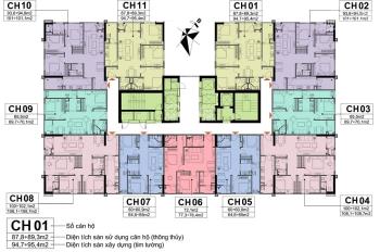 Bán gấp CC CT2A10 Nam Trung Yên 1606 - CT2(72.1m2), 1502 - CT1 (94.6m2) giá 28tr/m2. LH: 0353109414
