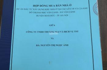 Bán lại căn NV2 DT 140m2 Đại Học Vân Canh, Tổng Cục 5, giá rẻ. 0909354333