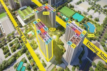 Mở bán S1.07 VH Ocean Park, 1PN + 1 từ 1,2 tỷ, 2PN + 1WC từ 1,47 tỷ, 2PN 2WC góc 1,8 tỷ, 3PN 2,2 tỷ