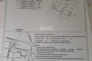 Ngay đường Võ Thị Sáu, thị trấn Long Điền, Bà Rịa Vũng Tàu, DT 106m2 TC 70m2, giá chỉ 890tr