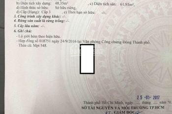 Bán nhà trệt lửng 56.6m2 sổ riêng phường Linh Tây quận Thủ Đức giá 2,85 tỷ