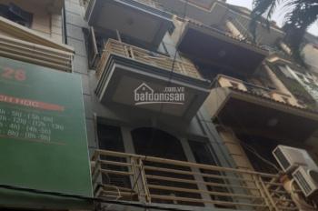Cho thuê căn nhà mặt ngõ 124 phố Hoàng Ngân. Diện tích 42m2 xây 5 tầng làm văn phòng và ở
