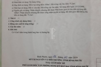 Bán đất thổ cư xã Minh Thắng - Chơn Thành