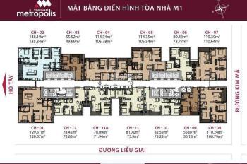 Bán căn hộ Metropolis 3PN, tòa M3, căn 03, 110m2, giá 8.3 tỷ, rẻ nhất thị trường. LH e Quốc Bảo