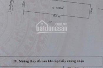 Cần bán lô đất 72m2 mặt đường Bạch Mai, Đồng Thái, An Dương, Hải Phòng. Giá 1,4 tỷ