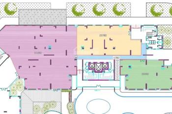 Cho thuê 1127m2 tầng 1 tòa nhà Chelsea Park Trung Kính 3 mặt tiền đường phù hợp ngân hàng, nhà hàng