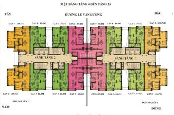 Chính chủ bán căn hộ Handi Resco Lê Văn Lương 100,7m2, giá 3 tỷ 50 triệu. LH 0985 381 248