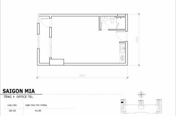 Chính chủ cần bán căn Officetel rẻ nhất thị trường tại Sài Gòn Mia, tầng 3, DT 42m2, tặng nội thất