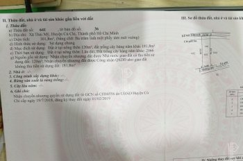 Chính chủ cần bán lô đất 2 mặt tiền Tỉnh Lộ 7 xã Thái Mỹ Củ Chi diện tích 300m2 giá 1tỷ3 0935632741