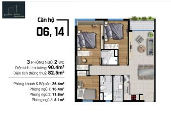 Sang nhượng căn hộ River Panorama 3PN giá giai đoạn đầu của dự án chênh lệch nhẹ