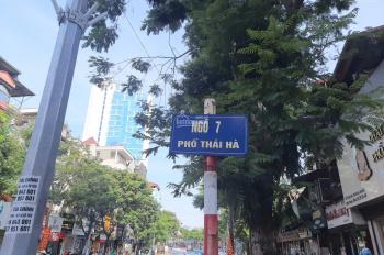Bán đất ngõ 7 Thái Hà, Đống Đa, Hà Nội, diện tích: 224,3m2, mặt tiền 7m, giá 23 tỷ, LH 0904090102