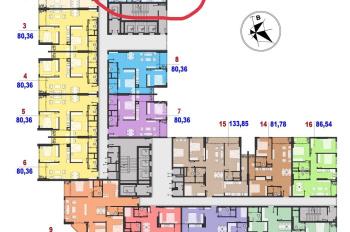 Cần bán gấp căn 1201, căn góc dự án C22 Bộ Công An, The Park Home. Giá 38tr/m2 vào tên trực tiếp